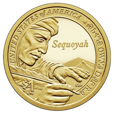 2017 Native American $1 Coin - Sequoyah (P)